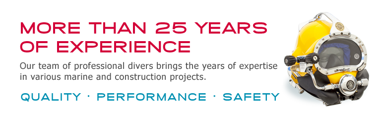 over 25 years of experience in marine construction